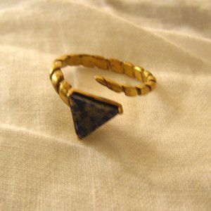 A Peace Treaty Lapis Triagle Wrap Ring New Size 7